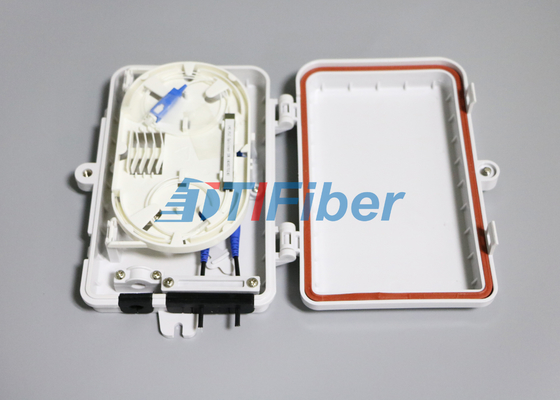 FTTH Mini Luar Kotak Distribusi Serat Optik 1x4 PLC