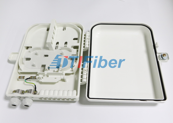 16 Port Kotak Distribusi Serat Optik Dengan 1 * 16 PLC Fiber Splitter